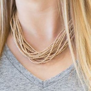 Wide Open Spaces - Brown Necklace Set